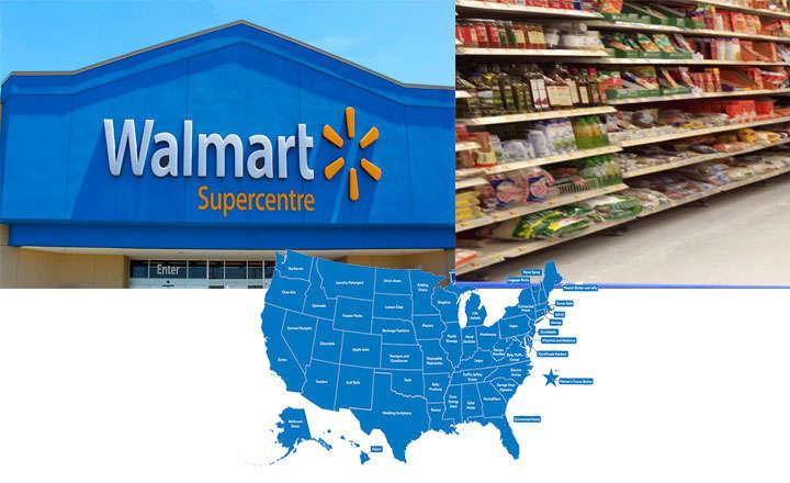 Localizaciones de las tiendas Walmart